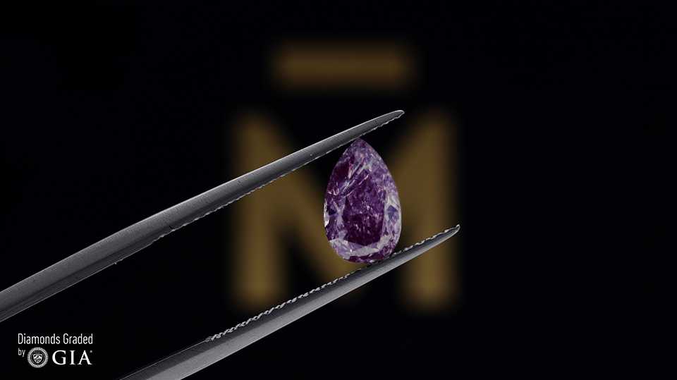 1.01ct Fancy Brownish Purple Pink