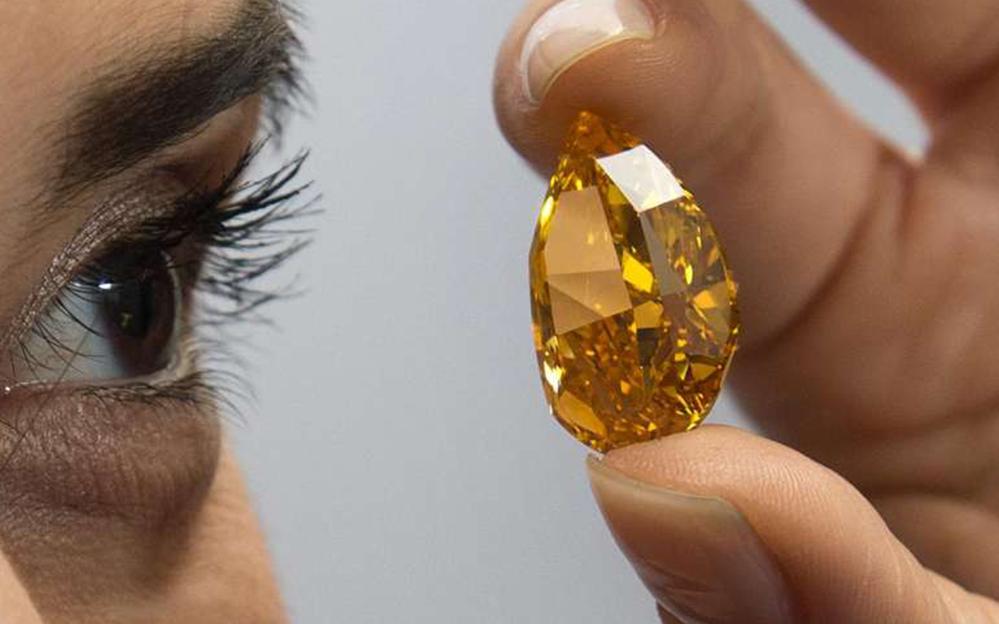 ORANGE Diament 14.82ct Fancy Vivid Orange