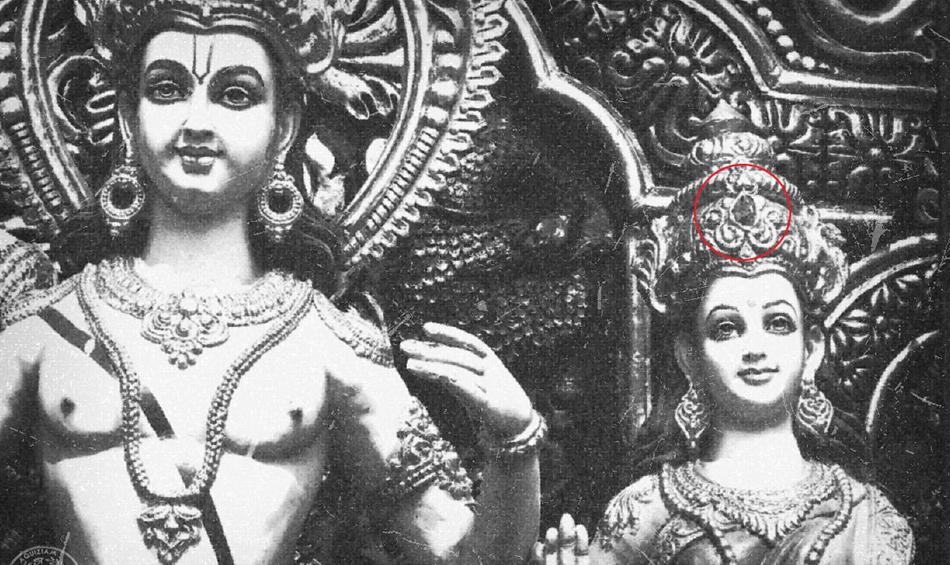 Niebieski klejnot był ozdobą hinduskiego bóstwa ...