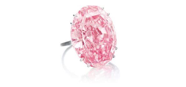 Najdroższe diamenty The Pink Star - 59.60ct Fancy Vivid Pink / IF ( via Sotheby's)