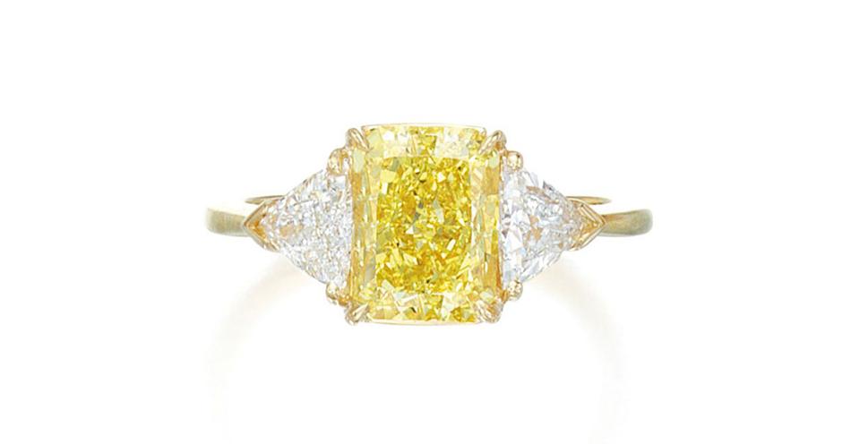 Diament naturalny 3.19ct Fancy Vivid Yellow (via Sotheby's)