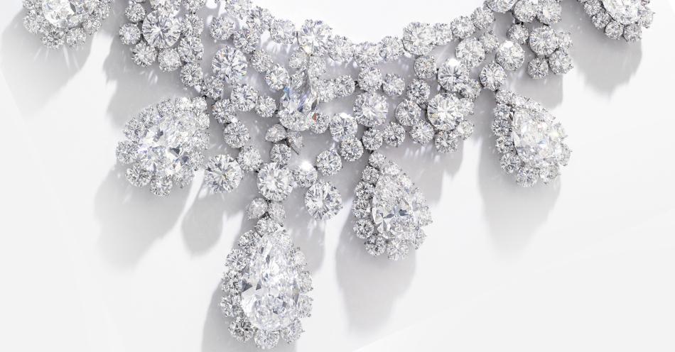 Naszyjnik Harry Winston z 352ct naturalnych diamentów (via Sotheby's)