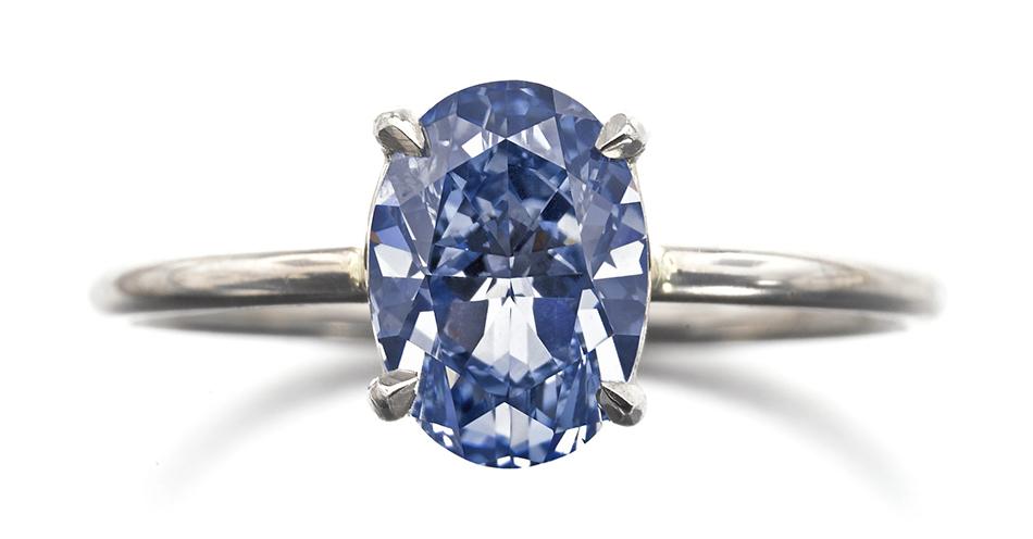 Aukcja Sotheby's - Fancy Vivid Blue