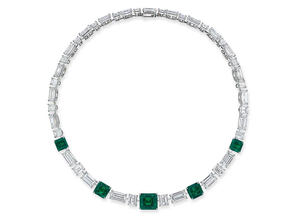 Aukcja Christie's Naszyjnik Cartier z diamentami i szmaragdami ( via Christie's)