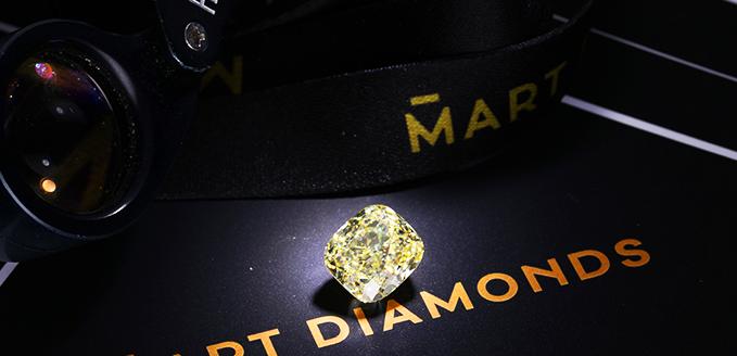 Diament naturalny o masie 7.05ct w barwie Fancy Yellow